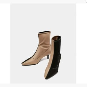 Zara Two - Tone New Ankle Boots 6.5